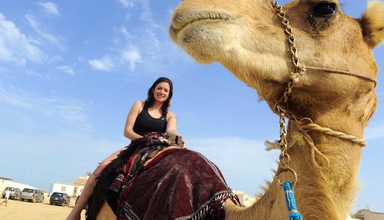 Agadir - Kamelreiten am Strand