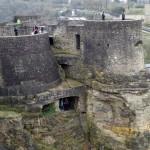 Blick auf die alte Festungsanlage über den Kasmatten
