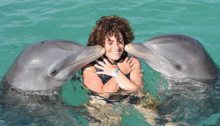 Dominikanischen-Republik-Schwimmen-mit-Delfinen