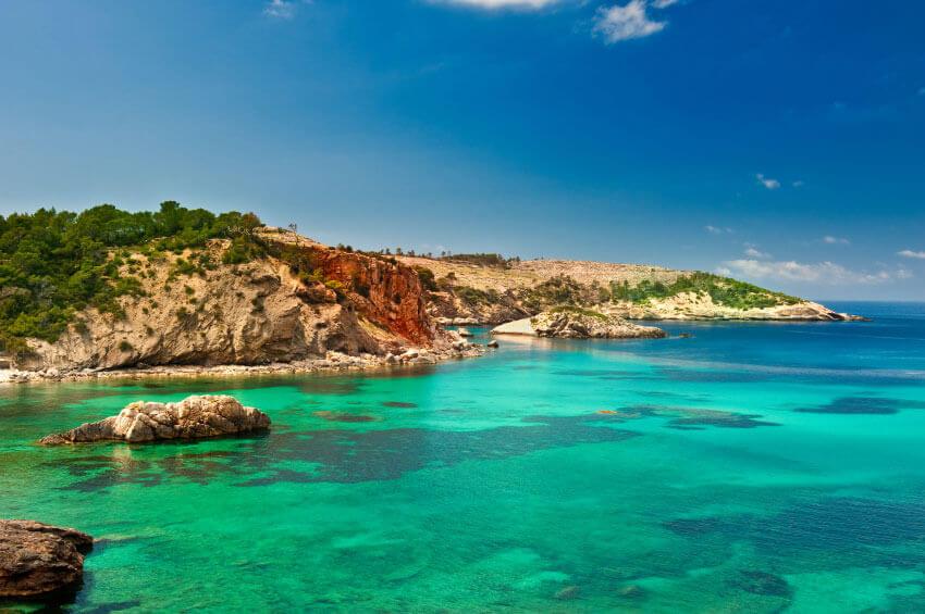 Ibiza Blick auf das Meer