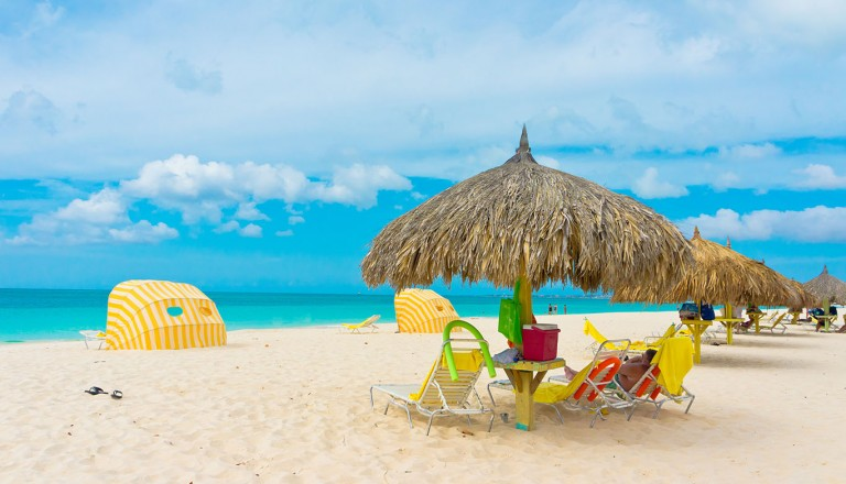 Karibik-Strand-und-Hotels