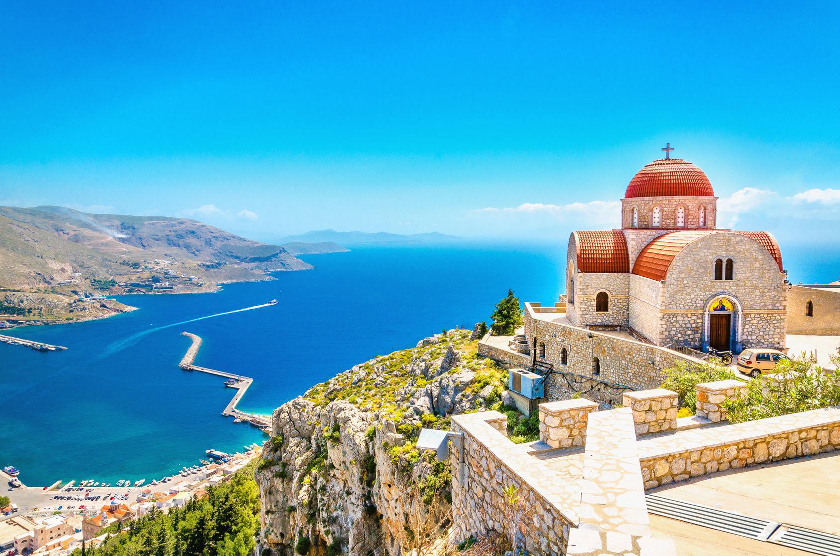 Kreta Blick über das Meer