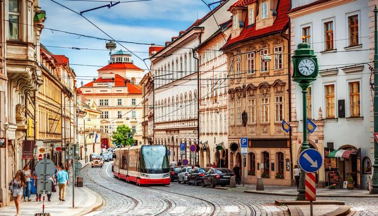 Prag-historischer-Straßenbahn