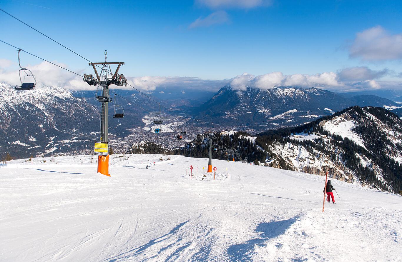 Skigebiet Garmisch Partenkirchen