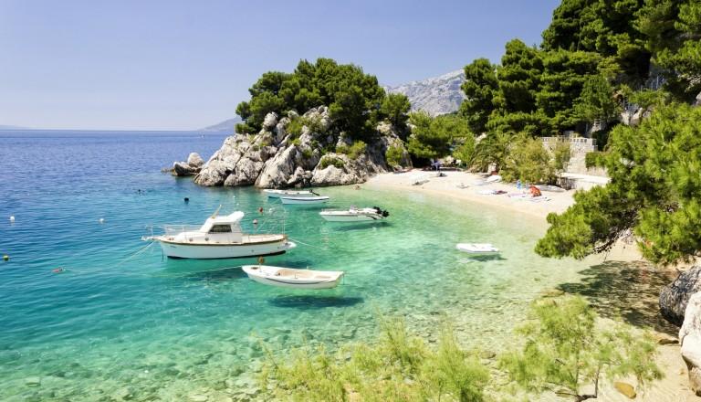 Brela an der Makarska Riviera