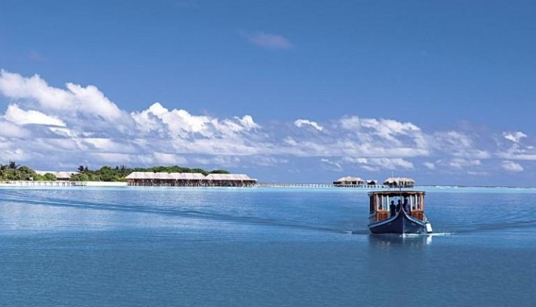 Conrad Maldives Segelboot Trauung
