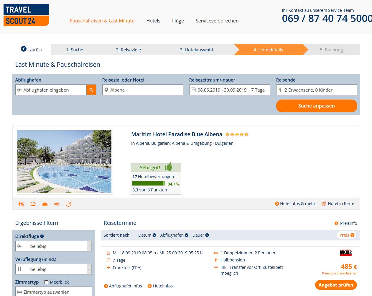 Maritim Hotel Paradise Blue In Albena Luxusurlaub In
